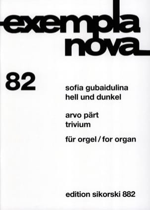 Gubaidulina Sophia / Pärt Arvo - Hell Und Dunkel - Trivium - Partition - di-arezzo.fr