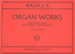 BACH - Organ Works For Piano Duet Volume 1. 4 mains - Partition - di-arezzo.fr