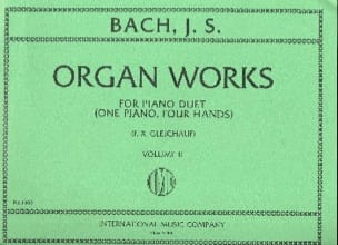 Organ Works For Piano Duet Volume 2. 4 Mains - BACH - laflutedepan.com