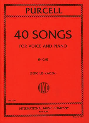 Henry Purcell - 40 Songs. Aloud - Sheet Music - di-arezzo.com