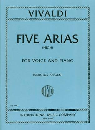 VIVALDI - 5 Arias. Aloud - Partition - di-arezzo.com