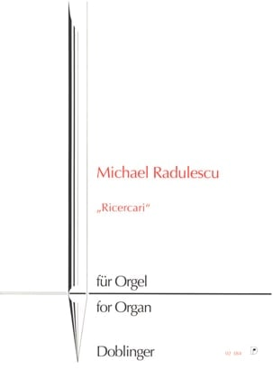 3 Ricercari - Michael Radulescu - Partition - Orgue - laflutedepan.com