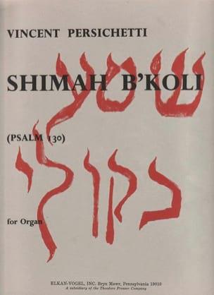 Shimah B'koli - Vincent Persichetti - Partition - laflutedepan.com