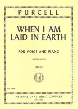 Henry Purcell - When I Am Laid In Earth. Dido and Aeneas - Sheet Music - di-arezzo.com