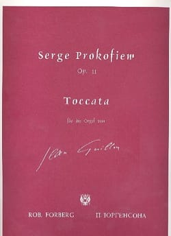 Sergei Prokofiev - Toccata Opus 11. Organ - Sheet Music - di-arezzo.com