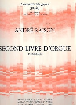 Second Livre d'Orgue Volume 1 - André Raison - laflutedepan.com
