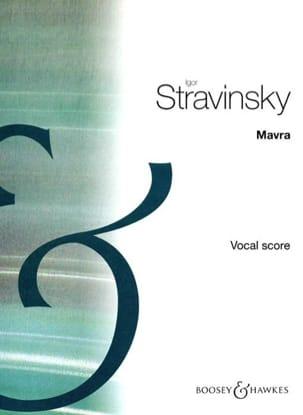 Mavra Igor Stravinski Partition Opéras - laflutedepan