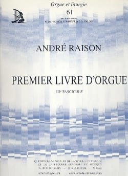1er Livre d'Orgue Volume 3 André Raison Partition Orgue - laflutedepan