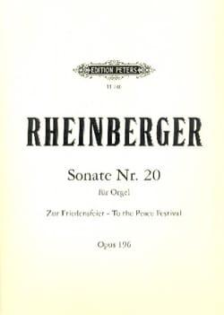 Sonate N° 20 Op. 196 Josef Gabriel Rheinberger Partition laflutedepan