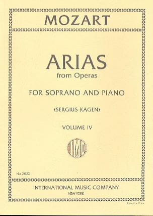MOZART - 40 Arias from Operas Soprano Volume 4 - Sheet Music - di-arezzo.co.uk