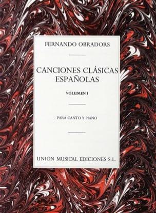 Fernando Obradors - Canciones Clasicas Espanolas Volume 1 - Partition - di-arezzo.fr