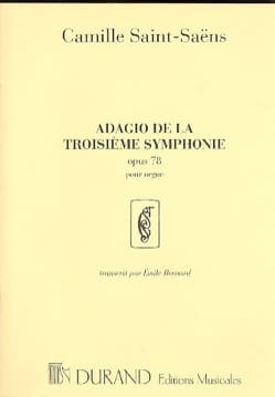 Camille Saint-Saëns - Adagio of the 3rd Symphony In C Minor Opus 78 - Sheet Music - di-arezzo.com