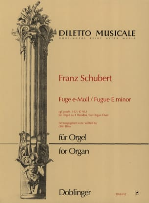 SCHUBERT - Fugue En Mi Mineur D 952. Orgue 4 Mains - Partition - di-arezzo.fr