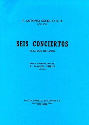 6 Concertos A 2 Orgues Antonio Soler Partition Orgue - laflutedepan