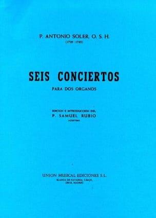 Antonio Soler - 6 Concertos A 2 Organs - Sheet Music - di-arezzo.com