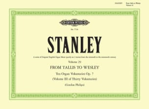 John Stanley - 10 Voluntaries Opus 7 - Partition - di-arezzo.fr