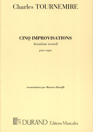 5 Improvisations. Volume 2 Charles Tournemire Partition laflutedepan