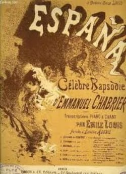 Emmanuel Chabrier - España. 4 Hands - Sheet Music - di-arezzo.co.uk