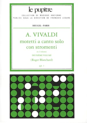 Vivaldi Antonio / Blanchard Esprit - Motetti A Canto Solo Con Stromenti Volume 2 - Partition - di-arezzo.fr