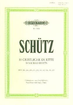 10 Geistliche Duette SCHUTZ Partition Duos - laflutedepan