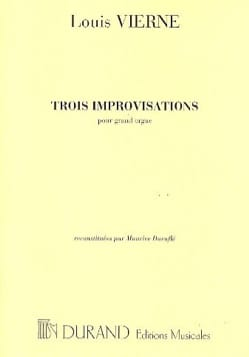 Louis Vierne - 3 Improvisations - Sheet Music - di-arezzo.com