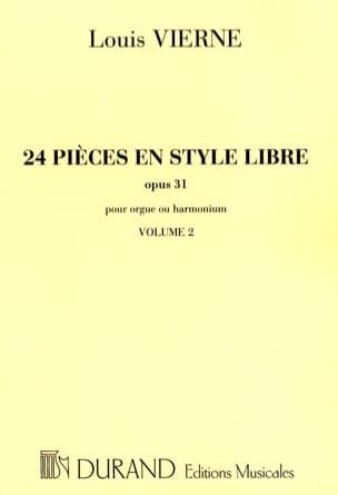 Louis Vierne - 24 Pieces Free Style Volume 2 Opus 31 - Sheet Music - di-arezzo.co.uk