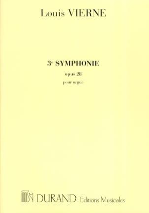 Louis Vierne - Symphonie N°3 Opus 28 - Partition - di-arezzo.fr