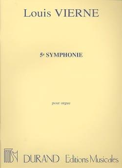 Louis Vierne - Symphonie N°5 Opus 47 - Partition - di-arezzo.fr