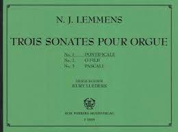 Nicolas-Jacques Lemmens - Sonate N°1 Pontificale - Partition - di-arezzo.fr