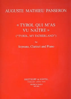 Auguste-Mathieu Panseron - Tyrol Qui M'as Vu Naître - Partition - di-arezzo.fr