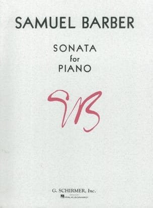 Sonate Opus 26 BARBER Partition Piano - laflutedepan