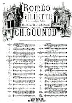 Charles Gounod - I want to live. Excerpt from Romeo and Juliet - Sheet Music - di-arezzo.com