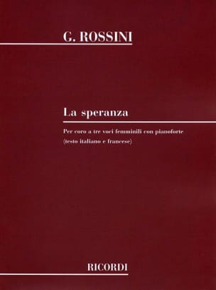 Gioachino Rossini - The Speranza - Sheet Music - di-arezzo.co.uk