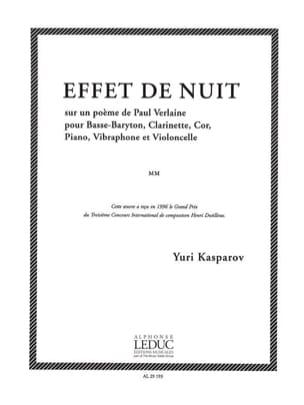 Youri Kasparov - Effet De Nuit - Partition - di-arezzo.fr