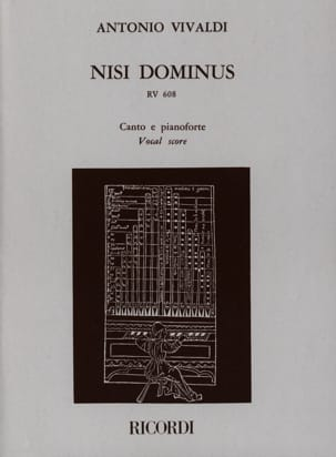 VIVALDI - Nisi Dominus Rv 608 - Sheet Music - di-arezzo.co.uk