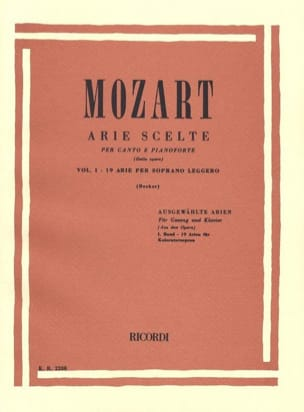 MOZART - Arie Scelte Light Soprano Volume 1 - Sheet Music - di-arezzo.co.uk