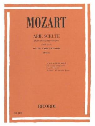 MOZART - Arie Scelte Tenor Volumen 3 - Partitura - di-arezzo.es