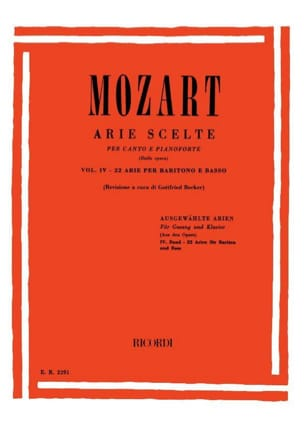 MOZART - 22 Arie Scelte Baritone Volume 4 - Sheet Music - di-arezzo.co.uk