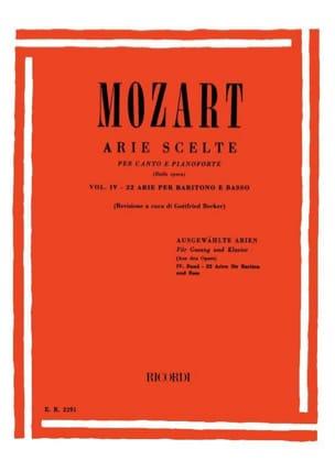 MOZART - 22 Arie Scelte Baritone Volume 4 - Sheet Music - di-arezzo.com