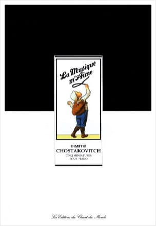 5 Miniatures CHOSTAKOVITCH Partition Piano - laflutedepan