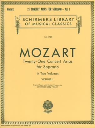 MOZART - 21 Soprano Concert Airs Volume 1 - Sheet Music - di-arezzo.co.uk