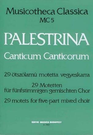 Canticum Canticorum Giovanni Pierluigi da Palestrina laflutedepan