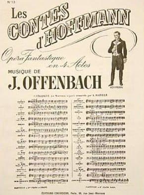 Barcarolle. Contes D'hoffmann. n° 13 - laflutedepan.com