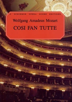 MOZART - Cosi Fan Tutte K 588 - Partition - di-arezzo.fr
