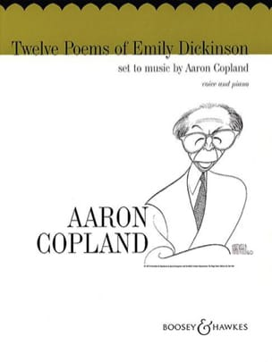 12 Poems of Emily Dickinson COPLAND Partition Mélodies - laflutedepan