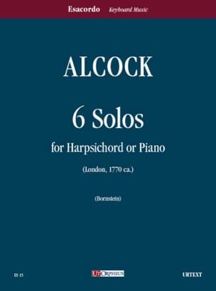 6 Solo (1770) - Alcock - Partition - Clavecin - laflutedepan.com