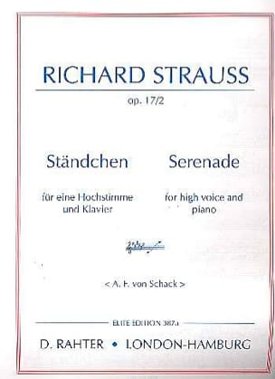 Ständchen Opus 17-2 Voix Haute Richard Strauss Partition laflutedepan