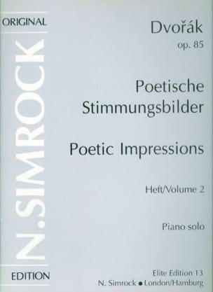 Impressions Poétiques Op. 85. Vol 2 - Anton Dvorak - laflutedepan.com