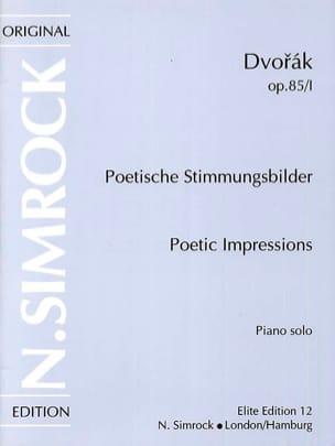 DVORAK - Impressions Poétiques Op. 85 - Vol 1 - Partition - di-arezzo.fr