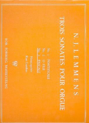Nicolas-Jacques Lemmens - Sonate N° 3 Pascale - Partition - di-arezzo.fr